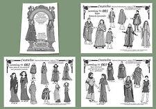 3 Sammlungen Nr. 1 bis 3 - 25 Kostüme Top Mittelalter Modell Schnittmuster 3.1