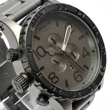 New NIXON 51-30 CHRONO MATTE BLACK GUNMETAL A083-1062 A0831062
