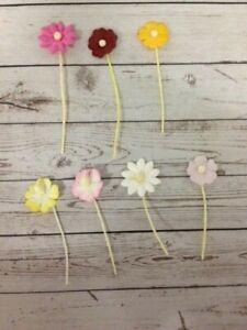 100 MINI MULBERRY FLOWERS (set 2) CARD MAKING SCRAPBOOKING CRAFT EMBELLISHMENTS