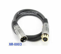 3 ft. Premium XLR Male to Female Microphone Audio Cable, 16AWG, XR-0003