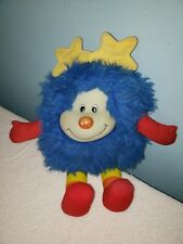 Vintage Rainbow Brite Blue Sprite Plush Stuffed Animal Doll 1983