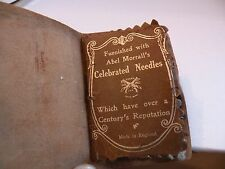 Jxj107 old Leather Needle Case Abel Morrall England, early old western design