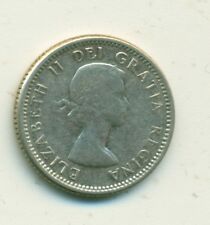 Canada 10 cents 1956 Multiple Dots Scarce VF