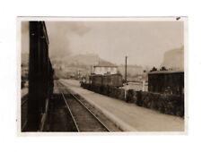 PHOTO ANCIENNE Train à vapeur Locomotive Vers 1930 Gare Vue du train