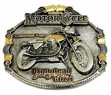 MOTO GUZZI Cintura Fibbia 24 KT Oro Classico Biker Moto Bici con licenza ufficiale