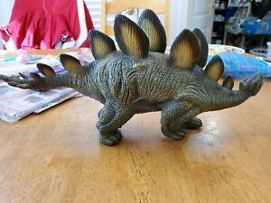 "Major Toy Trading Co Stegosaurus Large 15"" long Soft Rubber Dinosaur Figure 2007"