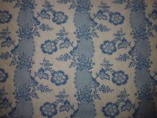 tissu textile ameublement façonné Pierre Frey bleu fleur rivière 18e revisité A