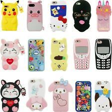 3D Cartoon Cover Case For iPhone 11 Pro Max 11 XR XS 8 7 6 6S 5S SE Touch 7 6 5