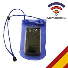 FUNDA WATERPROOF AZUL RESISTE AGUA SMARTPHONE MOVIL MP3 PISCINA SUMERGIBLE PLAYA