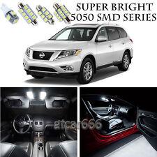5050 White LED Interior Lights Package Kit For 2013-2017 Nissan Pathfinder 13pcs