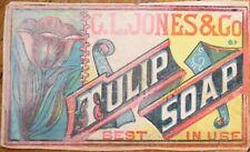 Tulip Soap 1870s Box / Bar Label - G. L. Jones & Company