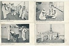1907 Four Us War Ship Sailors Activities Postcards Enrique Muller Photos