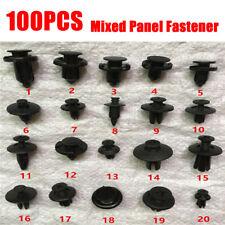 100PCS Plastic Rivets Fastener Push Clips Clip for Car Dashboard Center Console