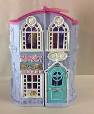 FISHER PRICE SWEET STREETS PET PARLOR SHOP DOLL HOUSE TOY PURPLE PINK