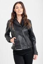 Ladies Leather Biker Jacket SIZE 18