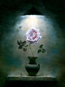 Dream-art Oil painting 阿列克谢安东诺夫油画作品 骄傲的玫瑰 Alexei Antonov the proud Rose plants