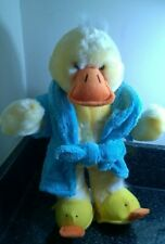 Vintage Chad Valley Duck Cuddle Club Dan In Dressing Gown & Slippers Soft Toy