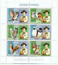 SCOUTISME & HIBOUX - SCOUTING & OWLS  CONGO 2006 Baden Powell set perforated