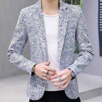 2019 Mens Coats One Button Slim Fit Korean Spring Leisure Blazer Jackets Outwear