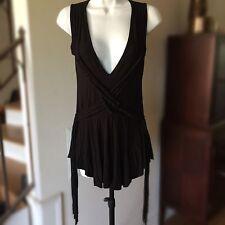 Bailey 44 Boho Festival Pirate Grecian Top Womens Black Sleeveless Shirt XS