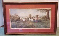 "Glynda Turley ""Playing Hookie"" Signed 1987 Framed Print"