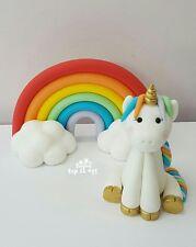 *NEW* Edible Unicorn Cake Topper with Rainbow Birthday Christening Baptism
