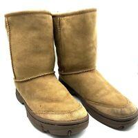 UGG AUSTRALIA WOMEN ULTIMATE SHORT 5275 BOOTS SAND CREAM SHEEPSKIN SZ 7 GUC