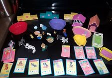 PUPPY IN MY POCKET 1993-95 VINTAGE HUGE LOT EXCELLENT CONDITION DOGS SHOW STANDS