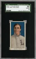 Rare 1909-11 T206 Jake Thielman Polar Bear Back Louisville ML SGC 50 / 4 VG-EX