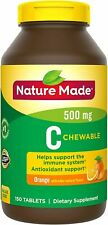 Nature Made Immune Support Vitamin C 500mg Chewable Tablet, 150 Tablets