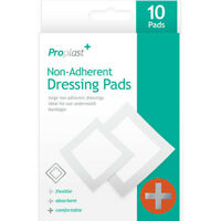 New 10 Pack Sterile NON ADHERENT DRESSING PADS First Aid Protect Heal Med Wound✔