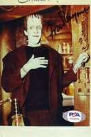Fred Gwynne Psa Dna Coa Signed 4x6 Photo Autograph