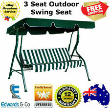 Outdoor Swing Seat 3 Chair Set Bed Canopy Swinging Chair Garden Seater Steel