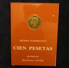 ESPAÑA: Carterita F.N.M.T  100 pesetas 1982 PROOF