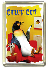 Chillin Out Penguin Fridge Magnet - Wildlife