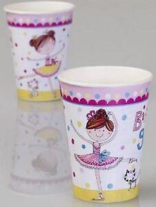 Ballerina Party Cups 200ml 8pk - Rachel Ellen Ballerina Party Supplies