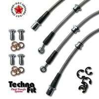 Techna-Fit Stainless Steel Brake Lines FRONT REAR SS DOT Approved Fits Evo 8 9