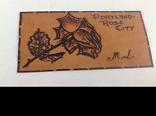 Victorian Leather Antique Postcard Portland - Rose City Flower Oregon