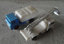 Lot of 2 Vintage 1970s Yatming Vehicles - Bucket Truck and Garbage Truck