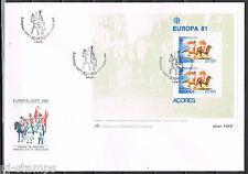 Azoren blok 2 Europa CEPT 1981 Azoren FDC Cat waarde € 15