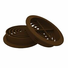 50 x Brown Plastic 70mm Round Soffit Air Vents / Upvc Push in Roof Disc / Fascia