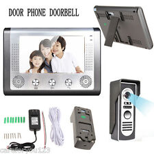 "Home 7"" TFT/LCD Wired Video Intercom Doorbell Door Phone Security Camera System"