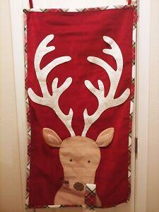 Pottery Barn kids Classic Velvet Reindeer Advent Calendar Christmas NEW Red 2020