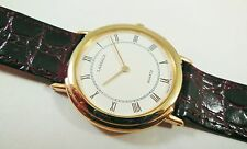 Lassale by Seiko Gold Tone Base Metal 5L10-6010 Leather Sample Watch NON-WORKING