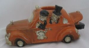 Yankee Candle Boney Bunch 2014 Dead End Taxi w Coffin in Trunk Votive Holder NEW