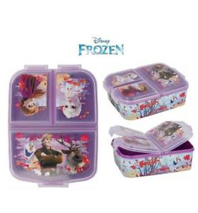 Frozen II Design  Kids Character 3 Compartment Sandwich Lunch Box Licenced Item