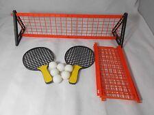 Set ping pong in plastica arancio con due racchette  e 6 palline sport