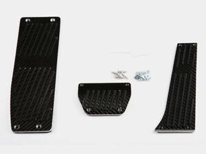 Carbon Pedals + Footrest For BMW E46 E90 E92 E87 AT Automatic LHD 3pcs