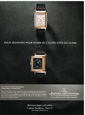 Publicité Advertising 2013 La Montre Reverso Ultra Thin Duoface Jaeger-LeCoultre