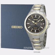 Authentic Seiko Core Men's Coutura Solar Two Tone Watch SNE444